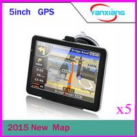 style matte NOUVEAU DHL dans le monde entier de cartes gratuits 5 pouces GPS avec 4 Go de mémoire et carte voiture gps navigateur ZY-DH-02