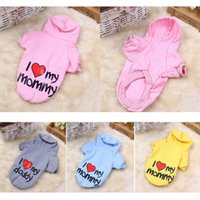 Kitten Cat Pet Dog Clothes Hoodie Coat Jumpsuit Sweater I Lo...