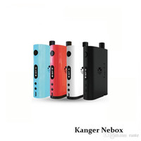 100% Kit authentique Kanger NeBox Starter avec Cigarette VV VW TC Electronic 60w Kangertech Ni Kbox 10ml kit vs subvod kit Joyetech Egrip