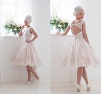 House of Mooshki Vintage Summer Short Wedding Dresses White ...