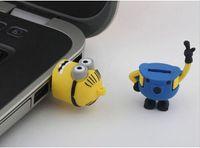 32GB 64GB 128GB новинка мультфильма Minions Гадкий я 2 USB2.0 Flash Drive Memory Stick флэш-накопитель Pendrive свободную перевозку груза для 1 год гарантии