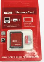 32GB 64GB 128GB Clase 10 UHS-I Tarjeta de memoria micro del SD TF Adaptador libre del SD Paquete de la ampolla tarjeta del micro SD SDHC epacket / hkpost nave