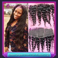 7A Indian Deep Wave Lace Frontal Closure 13x4 Virgin Human H...