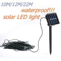 hot! led strings solar lights 10 12 22M waterproof 50 100 20...