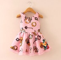 2015 Autumn Clothing Girl Tank Vest Dressy Watch Key Print G...