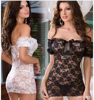 Hot Women Off Shoulder Lace Floral Sexy Lingerie Underwear P...