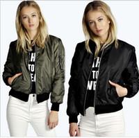2015 Autumn Slim Bomber Women' s jackets Stand Collar Co...