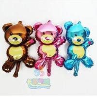 Оптово-Hot шарики из фольги Симпатичный мультфильм Медведь пленки алюминия шар день рождения Globos расположены надувные игрушки декор гелием воздушный шар