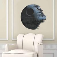 DHL Free Star Wars Wall Stickers Death Star 3D Wallpapers Wa...