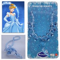 Children dress up Fairy Necklace Cinderella Crystal shoes mo...
