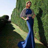 Attractive Tarik Ediz 2016 Hollow Sheath Evening Dresses Jew...