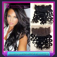 Brazilian Body Wave Lace Frontal Closure Bleached Knots 13X4...