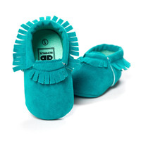 Colorful Baby Boy Shoes Handmade Soft Anti- Slip Newborn Foot...