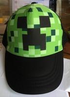 Minecraft JJ monster Creeper Baseball caps Mesh hat Peaked C...