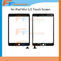 100% testé blanc noir pour iPad mini 1 2 écran tactile de digitizer écran tactile de haute qualité Dropshipping Livraison gratuite