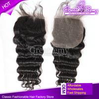Unprocessed Virgin Brazilian Human Hair Weave Deep Wave Top ...