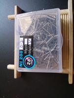 NI200 Résistance des fils Ni 200 bobines préconfectionnées au nickel bobine préconfigurée AWG 26g Calibre Ni-200 pour le contrôle de température TC Mod 100pcs / box