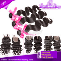 7A Grade 3pcs Hair Bundles With Free 1pc Lace Closure Full H...