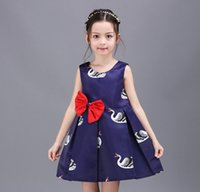 2016 Summer Baby Dresses Elegant Girls Goose Butterfly Party...