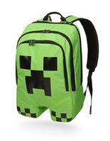 Minecraft Green Backpack Cartoon Creeper Backpack Children S...