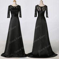 Grace Karin 3 4 Sleeve Black Formal Prom Mother Of Brides Pa...