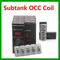 Kang Subtank OCC Bobinas algodón orgánico Coil Heads alta calidad 5pcs / pack Fit Para Kang Subtank Subtank Nano Subtank Plus RBA Clearomizer
