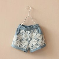 NEW ARRIVAL baby girl kids SUMMER lace shorts crochet shorts...
