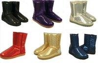 2016 Австралия Классические Короткие сверкает ботинки снежка повелительницы 3161 Handmade Glitter Блестки украшения плюша зимние женские сапоги