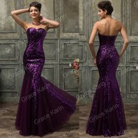Grace Karin Sequins Mermaid Fishtail SLIM Prom Party Bridesm...