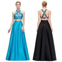 Grace Karin Sexy Two- Piece Evening Formal Dress Sequined Sat...