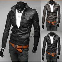Fashion Designer Jackets Men Leather Jackets Men waist coat ...