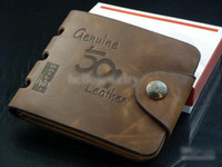 Hot sales Men High Quality Leather Wallet Pockets Card Clutc...