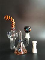 Deux fonctions Coloré Eau recyclée Tuyaux d'eau en verre Bongs en verre Dabbers en verre d'huile avec le dôme et le clou commun de verre de 18.8mm