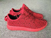Kanye West Red Running Shoes For Men Designer New 350 Boost ...