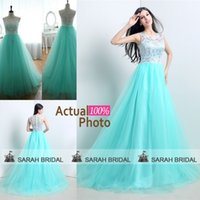 Mint Green Tulle Bridesmaid Dresses 2015 Spring Summer Beach...