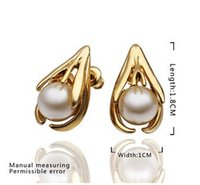 Hot ! 2014 Autumn New fashion gold plated imitation pearl ea...