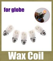 remplacement M6 Coil Coil tête pour Remplacement de l'ampoule de verre Globe atomiseur Verre Réservoir Core Siège pour Dry Herb Wax dôme de verre céramique FJ097 de bobine