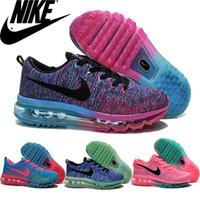 Nike Flyknit Air Max 2015 Premium Women Running Shoes Multi-...