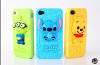 3D Carve Stitch Winnie the Pooh greenman Silicone Case for i...