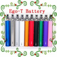 En stock !! Ego t Batterie E Cigs Ego Batteries E Cigarette 510 batterie Atomiseur Clearomizer Vaporisateur mt3 CE4 CE5 CE6 650/900 / 1100mAh