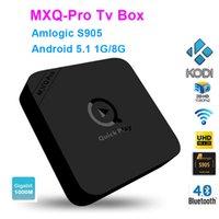 10pcs DHL MXQ PRO Google Android 5.1 IPTV TV boîtes S905 1000Mbps LAN Bluetooth4.0 1 Go + 8 Go Dual WIFI
