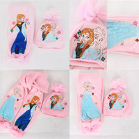 Frozen Kids Knitting Kit (scarf + hat) Girls Children Scarf ...