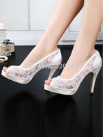 Ivory Bridal Shoes Peep Toe Reviews  Cheap Bridal Shoes Pearls