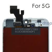 Pour iPhone 5 Ecran LCD blanc Moniteur d'affichage à numériseur AAAA Qualité Pas de pixels morts