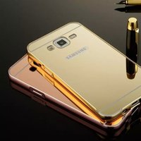 Mirror Luxury Metal Aluminum Bumper Frame PC Back Cover for ...