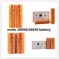 Nouveau Mnke 26650 3500mAh Mnke 18650 1600mAh Flat Top imr Rechargable batterie au lithium pour e cig 18650 26650 Mod vs VTC 4 5 ultrafire B 0204139