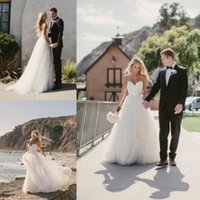 2016 Beach Wedding Dresses Bridal Gowns with Spaghetti Strap...