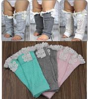 Free Shipping Toddlers Baby Kids Knitted lace Ruffles Leg Wa...