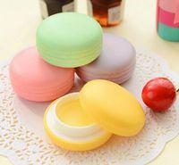 New Makeup Round candy color Moisturizing macaron lip balm N...