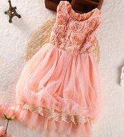 baby girl kids lace dress embroidery dress crochet dress 3D ...